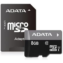 ADATA Premier UHS-I U1 Class 10 50MBps microSDHC 8GB With Adapter